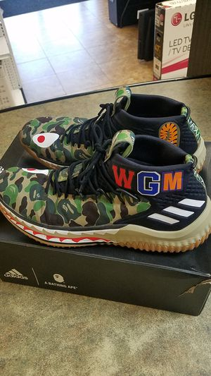 ADIDAS X BAPE DAME 4 SIZE 11 N0 TRADED for Sale in Mesa, AZ