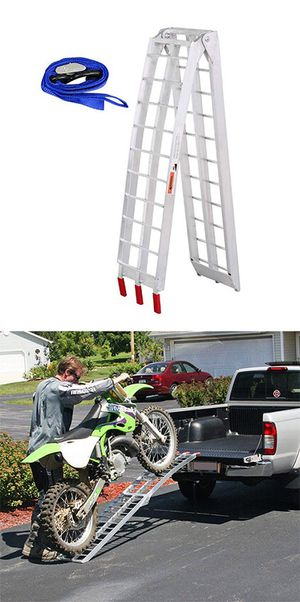 New in box $60 Single 7.5ft Aluminum Motorcycle Folding Loading Ramp Street Dirt Bike 750Lbs Rated for Sale in Pico Rivera, CA