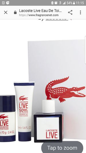 Perfume lacoste live set para caballero for Sale in Baltimore, MD