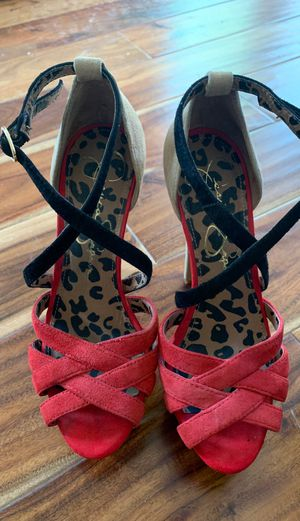 Red + Cheetah print heels! for Sale in Miami, FL