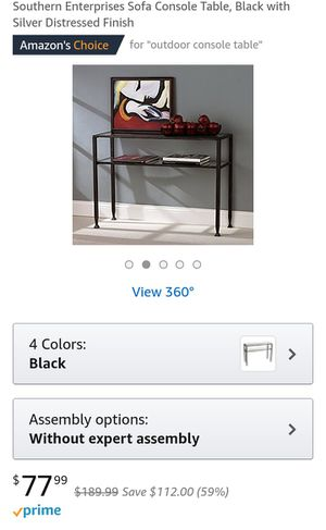 Black Sofa Console Table for Sale in Baltimore, MD