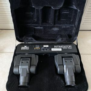 Chauvet Intimidator Spot Duo Moving Heads Dj Lights With Case for Sale in Miami, FL