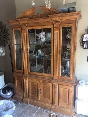 Lighted china cabinet for Sale in O'Fallon, MO