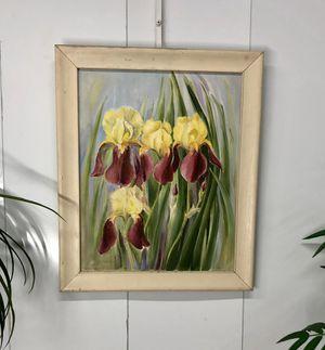 "Oil Painting on Canvas Irises Framed Wall Art 23.5""x19.5"" Item#045 for Sale in Boynton Beach, FL"