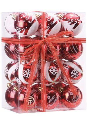Christmas Tree Ball Ornaments - 24 piece (red) for Sale in Arlington, VA