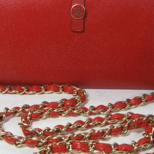 Chanel Red Timeless Calfskin Leather CC Long Bag Wallet for Sale in McHenry, IL