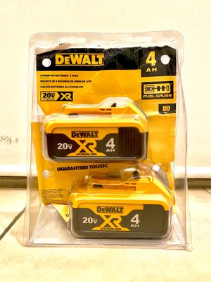 DeWalt 4.0 ah battery 50 each or 90 for both for Sale in Houston, TX