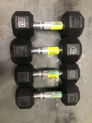 2 sets of Dumbbells 💪 ignite New 15-20 lbs for Sale in Queens, NY