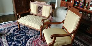 Settee with matching arm chair. for Sale in Boston, MA