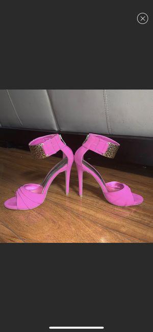 Anne Michelle Perton Pink Ankle Strap Heels SZ 6.5 for Sale in Alexandria, VA