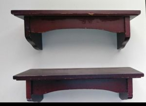 2 burgundy wall shelves for Sale in Perris, CA