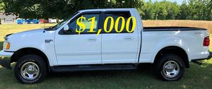 $1,OOO I'm seling URGENTLY 2OO2 Ford F-150 XLT Super Crew Cab 4-Door Pickup Everything is working great! Runs great and fun to drive!!!! for Sale in Richmond, VA