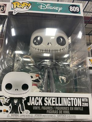Funko pop nightmare before Christmas jack skellington with zero 10' for Sale in Fontana, CA