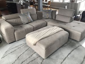 Leather Sofa , ottoman and chair made from Italy for Sale in Boston, MA