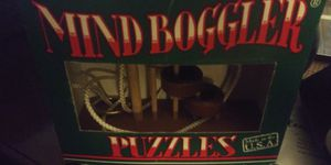 NEW IN BOX MIND BOGGLER WOOD PUZZLE GAME 5DOL FIRM LOTS DEALS MY POST GO LOOK for Sale in Jupiter, FL