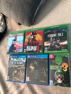 Xbox one, ps4, and switch games for Sale in Apache Junction, AZ