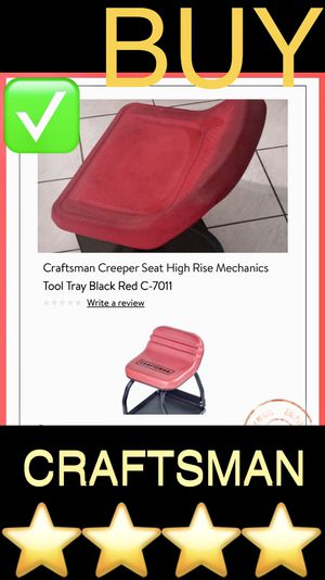 CRAFTSMAN creeper seat - rolling stool - high rise gliding mechanics swivel chair for garage - cash or trade 4 snap on drill or toolbox for Sale in Las Vegas, NV