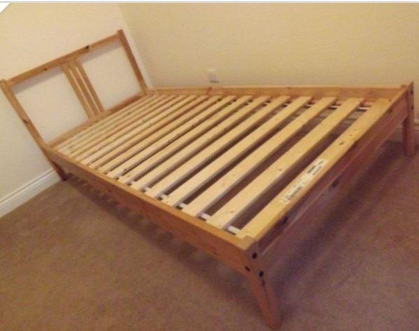 ikea l nset twin slats fjellse bed frame for sale in saint. Black Bedroom Furniture Sets. Home Design Ideas