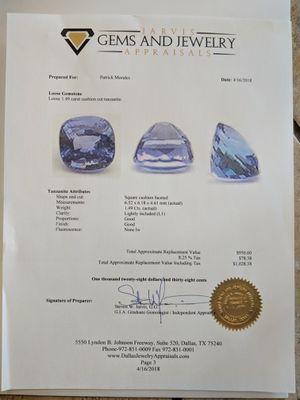 Tanzanite 1.49 carat gemstone for Sale in Austin, TX