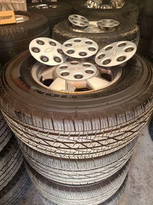 "Wheels and tires p265/70r16"" 6 lug Silverado Tahoe Yukon suburban escalade avalanche gmc 6x5,5 or 6x139,7 for Sale in Riverside, CA"
