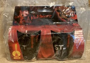 A Nightmare On Elm Street Freddy Krueger Collectible Shot Glasses New for Sale in North Ridgeville, OH