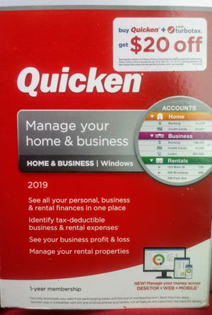 Quicken Home & Business Personal Finance Software, 1-Year Subscription for Sale in Houston, TX