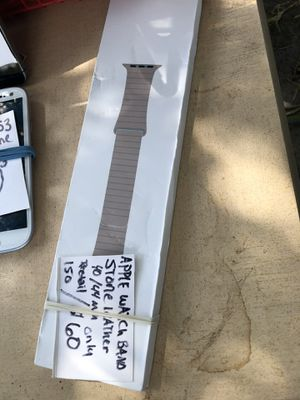42mm / 44 mm Apple Watch band STONE LEATHER for Sale in Tampa, FL