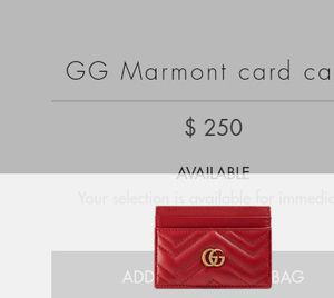 Women's Gucci red card wallet $125.00 for Sale in Fresno, CA