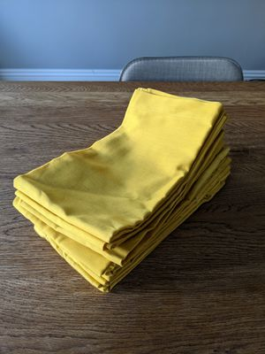 Crate & Barrel mustard yellow cloth napkins for Sale in San Francisco, CA