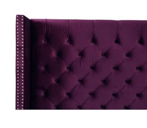 Purple velvet bed frame brand new (queen) for Sale in Alexandria, VA