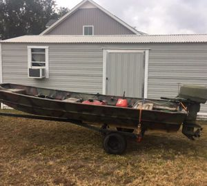 Jon Boat with motor and trailer for Sale in Clyo, GA