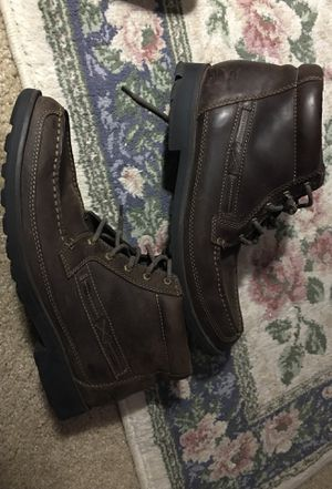 Clark's Men's brown leather work boots size 13 for Sale in Raleigh, NC