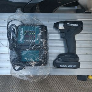 Makita 18 Volt Brushless Subcompact Impact Driver Battery And Charger for Sale in Chino, CA