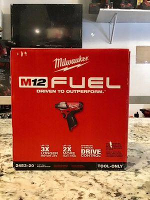 "Milwaukee FUEL M12 2453-20 0.25"" Cordless Brushless Hex Impact Driver 🔴⚫️ BRAND NEW SEALED!!! ⚫️🔴 for Sale in New York, NY"