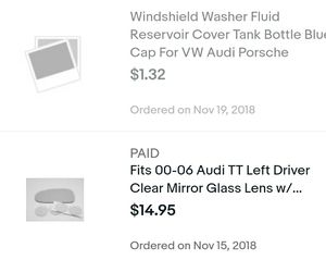 Audi tt parts not for sale. For records on tt im selling only. for Sale in La Mesa, CA