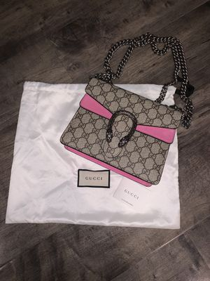 Gucci Dionysus GG Supreme mini bag In Pink 100% Authentic for Sale in Portland, OR