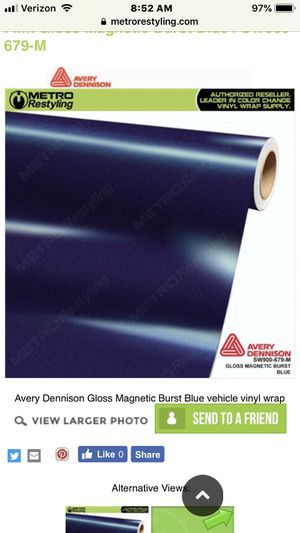Avery Gloss blue magnetic vinyl wrap for Sale in Edgewood, WA