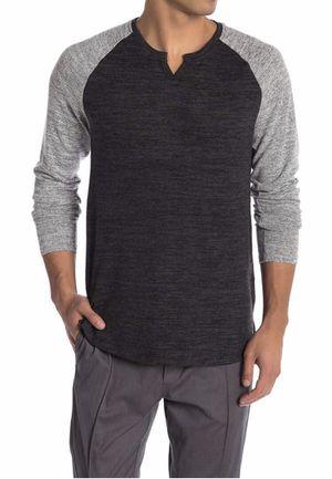 Men Civil Society Raglan Baseball Split V Neck Long Sleeve Tee T Shirt Fashion S for Sale in Queens, NY