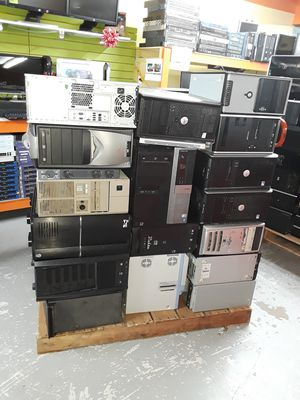 Pallet Of Computers For Parts Or Gold RECOVERY (ASIS) 35 OR MORE IN THE PALLET +EXTRAS for Sale in Kennedale, TX