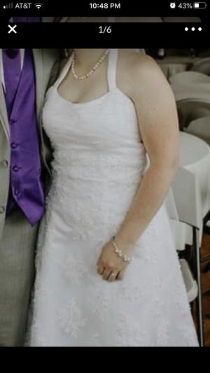 White Wedding Dress for Sale in Murfreesboro, TN