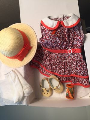American Girl Doll Orange Dress and Hat for Sale in San Diego, CA