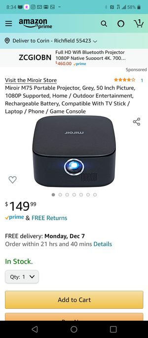 Miroir Micro projector for Sale in Saint Paul, MN