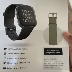 Fitbit- Versa 2 With Bonus Band for Sale in Sugar Land, TX