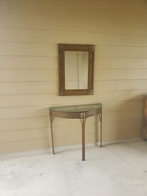 Mirror and table made of steel for Sale in Hutto, TX