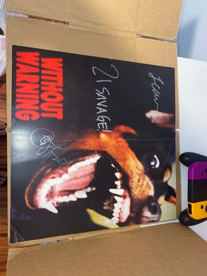 Without Warning poster signed by offset, 21 savage, Metro Boomin for Sale in Windham, CT