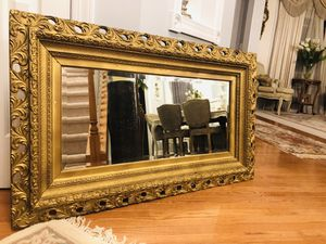 """50""""X29"""" large Super Antique ornate wood heavy Gold mirror """"SERIOUS BUYERS ONLY """" for Sale in Gainesville, VA"""