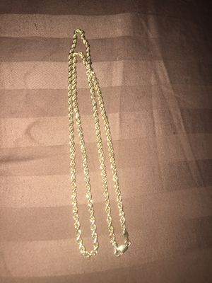14k hollow real gold chain for Sale in Baldwin Hills, CA