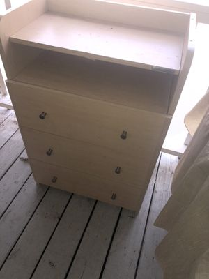 Beige wood dresser for Sale in Greensboro, NC