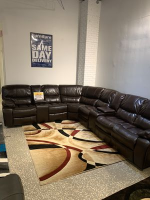 WE ARE OPEN! BEAUTIFUL RECLINING SECTIONAL ON SALE! IN STOCK! NO CREDIT FINANCING! SAME DAY DAY DELIVERY for Sale in Tampa, FL