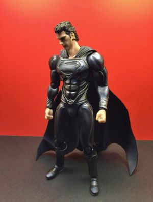 """12"""" inch Superman Action Figure Play Arts Kai Man Of Steel Black Suit Version Neca Slideshow Hot Toys for Sale in Dallas, TX"""